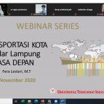 Kampus Terbaik di Lampung Universitas Teknokrat Indonesia Gelar Webinar Betajuk Transportasi Masa Depan Kota Bandar Lampung