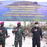 Brigif 4 Marinir bersama Universitas Teknokrat Indonesia Bina Desa Pesisir Lampung