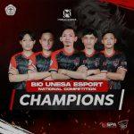 Lagi, Mahasiswa Universitas Teknokrat Indonesia Juara 1 Nasional E-Sport Divisi Mobile Legends
