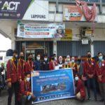 BEM Universitas Terbaik di Lampung Teknokrat Donasi untuk Korban Bencana melalui ACT Lampung