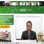 Hari I International Conference On Advanced Information Technology 2021, Dr H Mahathir Muhammad SE MM Beri Sambutan