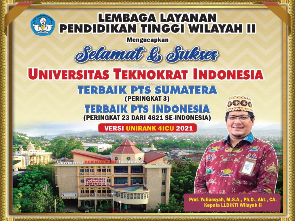 Universitas Teknokrat IndonesiaJajaran PTS Terbaik di Indonesia