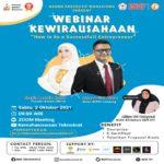 PTS Terbaik Sumatera Universitas Teknokrat Indonesia Gelar Webinar Kewirausahaan